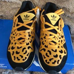 NIB Leopard print cutout Adidas Sneakers.